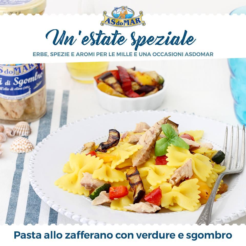 Un'Estate Speziale - Pasta allo zafferano con verdure grigliate e sgombro
