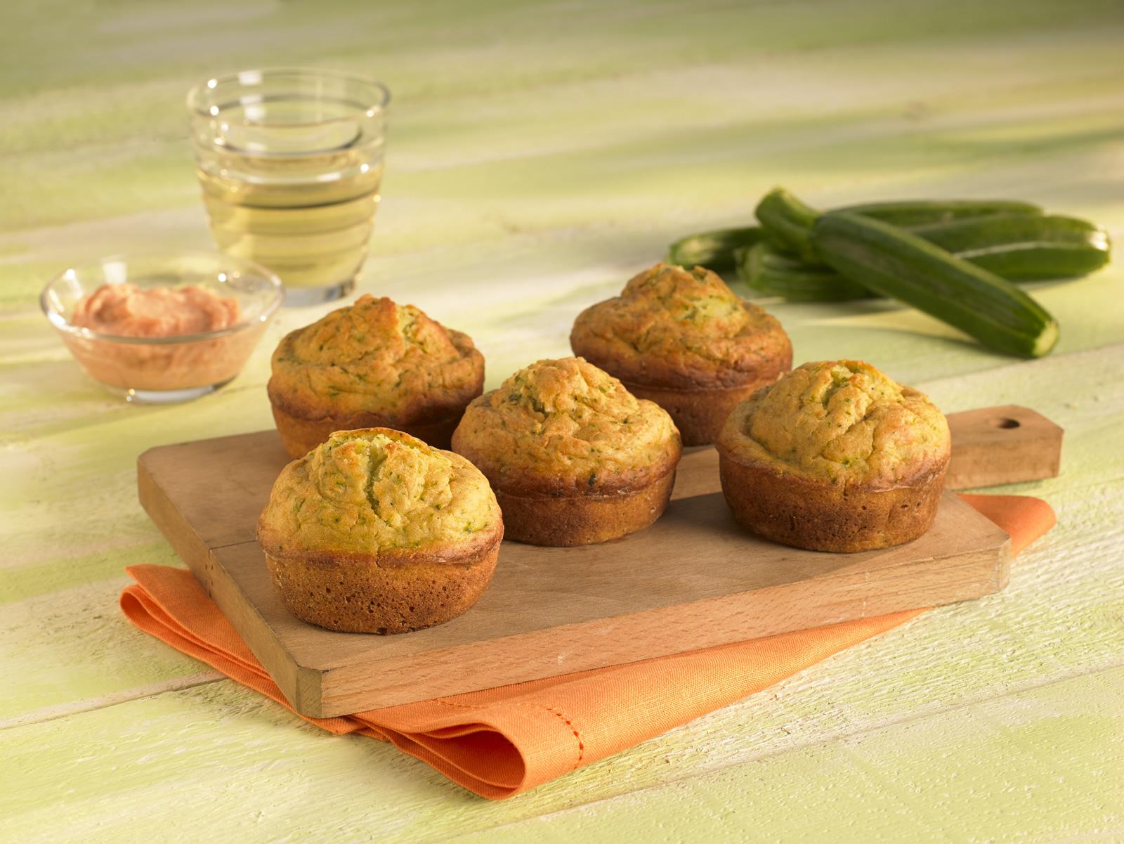 Muffin salati con zucchine e pate al tonno